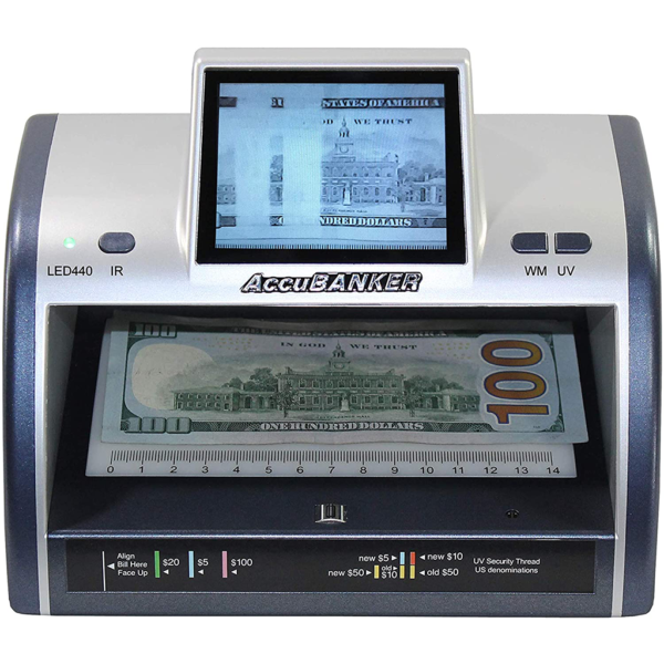 AccuBANKER LED440 – infrared counterfeit detector