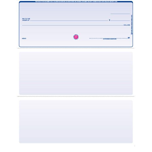Blank Laser Voucher Check