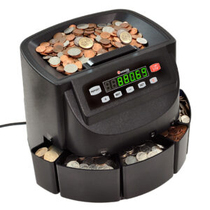 business-grade electronic coin sorter, counter and roller