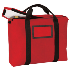 Red Fire-Resistant Locking Briefcase Bag