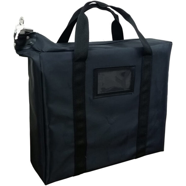 black locking document bag