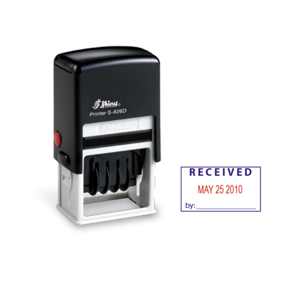 Shiny S826-D2 Dater Stamp (Two Color)