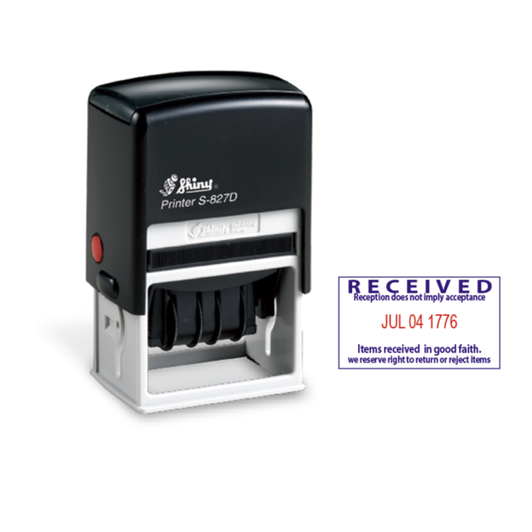 Shiny S827-D2 Dater Stamp (Two Color)