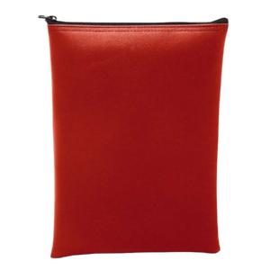 Red Vertical Zipper Bag