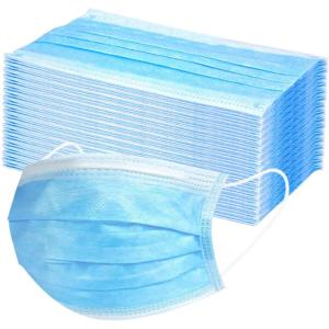 blue earloop face masks