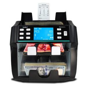 Kolibri Signature - two-pocket, bank grade mixed bill counter, sorter and reader
