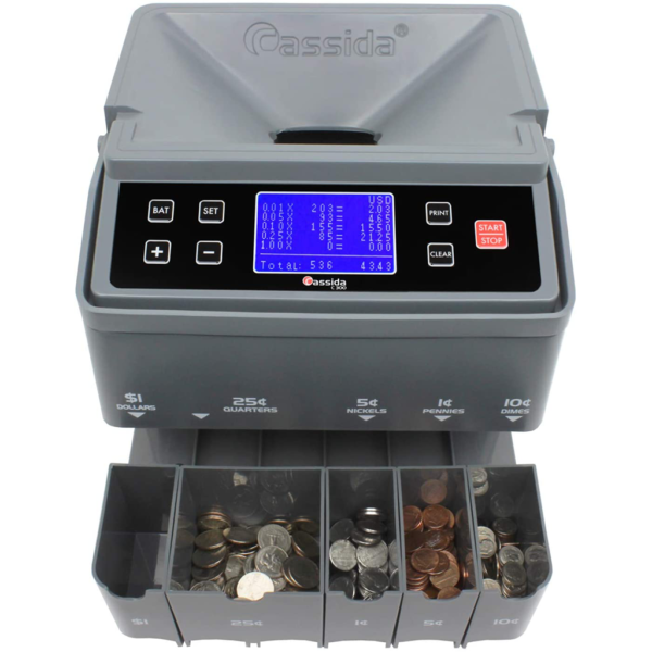 coin counter, sorter and wrapper