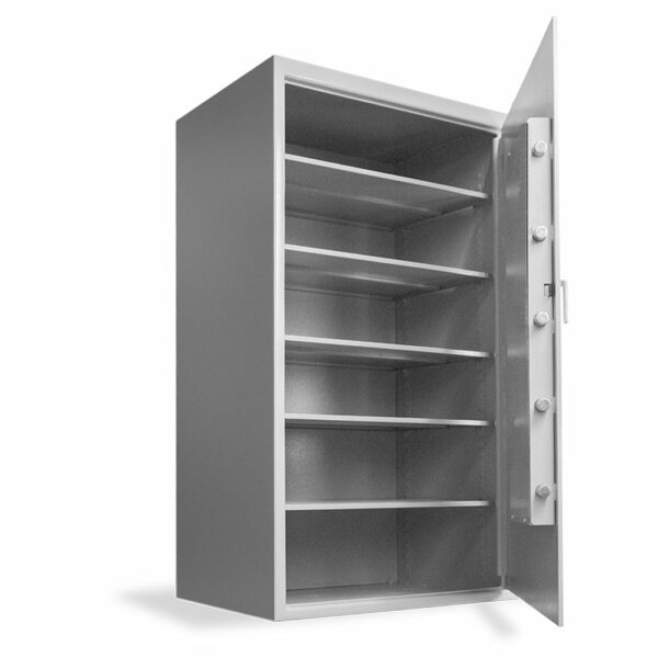 Heavy-Duty Inventory Safe (66H X 37W X 27D) - Open