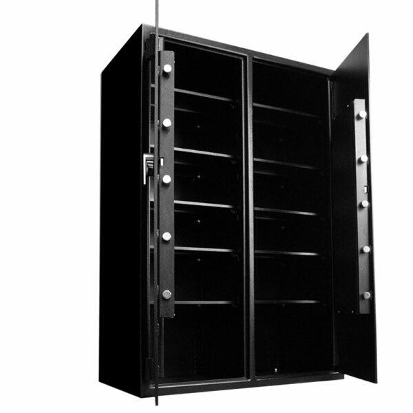 """Heavy-Duty Inventory Safe 2-Door (72""""H X 48""""W X 27""""D) - Open"""