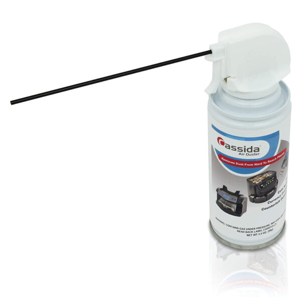 Convenient cleaning kit includes everything you need to keep your Cassida bill counter clean and running at peak performance